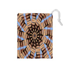 Manipulated Reality Of A Building Picture Drawstring Pouches (medium)