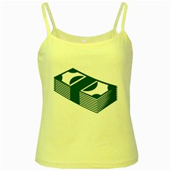 Rich Dollar Money Green Yellow Spaghetti Tank