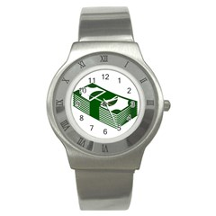 Rich Dollar Money Green Stainless Steel Watch