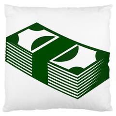 Rich Dollar Money Green Large Cushion Case (two Sides)