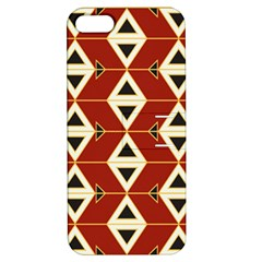 Triangle Arrow Plaid Red Apple Iphone 5 Hardshell Case With Stand