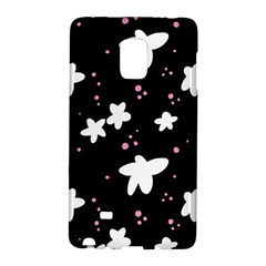 Square Pattern Black Big Flower Floral Pink White Star Galaxy Note Edge