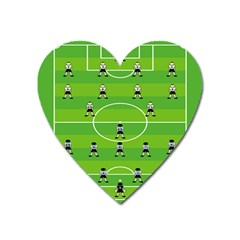 Soccer Field Football Sport Heart Magnet