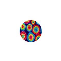 Tie Dye Circle Round Color Rainbow Red Purple Yellow Blue Pink Orange 1  Mini Magnets