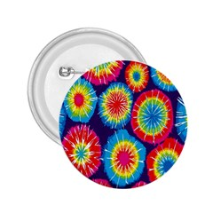 Tie Dye Circle Round Color Rainbow Red Purple Yellow Blue Pink Orange 2 25  Buttons