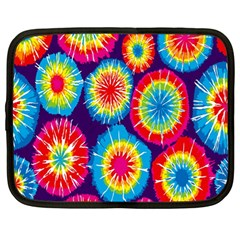 Tie Dye Circle Round Color Rainbow Red Purple Yellow Blue Pink Orange Netbook Case (large)