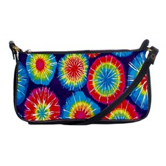 Tie Dye Circle Round Color Rainbow Red Purple Yellow Blue Pink Orange Shoulder Clutch Bags