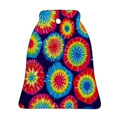 Tie Dye Circle Round Color Rainbow Red Purple Yellow Blue Pink Orange Ornament (bell)