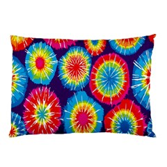 Tie Dye Circle Round Color Rainbow Red Purple Yellow Blue Pink Orange Pillow Case (two Sides)