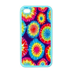 Tie Dye Circle Round Color Rainbow Red Purple Yellow Blue Pink Orange Apple Iphone 4 Case (color)