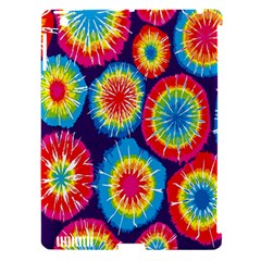Tie Dye Circle Round Color Rainbow Red Purple Yellow Blue Pink Orange Apple Ipad 3/4 Hardshell Case (compatible With Smart Cover)