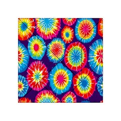 Tie Dye Circle Round Color Rainbow Red Purple Yellow Blue Pink Orange Acrylic Tangram Puzzle (4  X 4 )