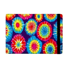 Tie Dye Circle Round Color Rainbow Red Purple Yellow Blue Pink Orange Apple Ipad Mini Flip Case