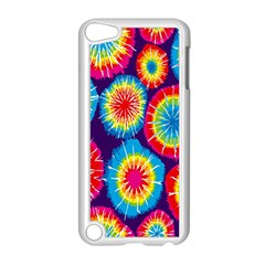 Tie Dye Circle Round Color Rainbow Red Purple Yellow Blue Pink Orange Apple Ipod Touch 5 Case (white)