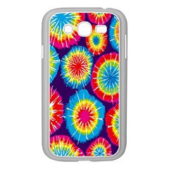 Tie Dye Circle Round Color Rainbow Red Purple Yellow Blue Pink Orange Samsung Galaxy Grand Duos I9082 Case (white)