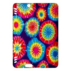 Tie Dye Circle Round Color Rainbow Red Purple Yellow Blue Pink Orange Kindle Fire Hdx Hardshell Case