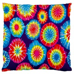 Tie Dye Circle Round Color Rainbow Red Purple Yellow Blue Pink Orange Standard Flano Cushion Case (one Side)