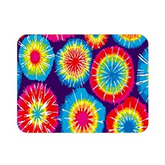 Tie Dye Circle Round Color Rainbow Red Purple Yellow Blue Pink Orange Double Sided Flano Blanket (mini)