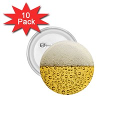 Water Bubbel Foam Yellow White Drink 1 75  Buttons (10 Pack)
