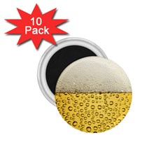 Water Bubbel Foam Yellow White Drink 1 75  Magnets (10 Pack)