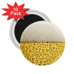 Water Bubbel Foam Yellow White Drink 2 25  Magnets (10 Pack)