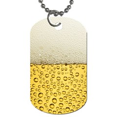 Water Bubbel Foam Yellow White Drink Dog Tag (two Sides)