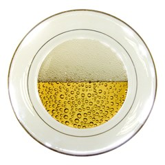 Water Bubbel Foam Yellow White Drink Porcelain Plates