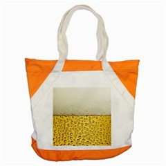 Water Bubbel Foam Yellow White Drink Accent Tote Bag