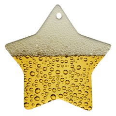 Water Bubbel Foam Yellow White Drink Star Ornament (two Sides)