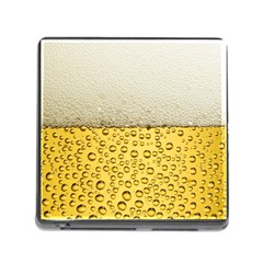 Water Bubbel Foam Yellow White Drink Memory Card Reader (square)