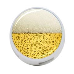 Water Bubbel Foam Yellow White Drink 4 Port Usb Hub (one Side)