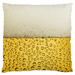 Water Bubbel Foam Yellow White Drink Large Flano Cushion Case (one Side)