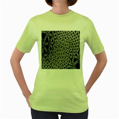 X Ray Rendering Hinges Structure Kinematics Circle Star Black Grey Women s Green T Shirt