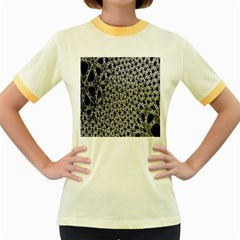 X Ray Rendering Hinges Structure Kinematics Circle Star Black Grey Women s Fitted Ringer T Shirts