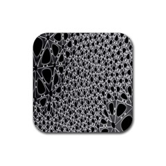 X Ray Rendering Hinges Structure Kinematics Circle Star Black Grey Rubber Coaster (square)