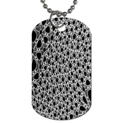 X Ray Rendering Hinges Structure Kinematics Circle Star Black Grey Dog Tag (one Side)