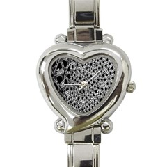 X Ray Rendering Hinges Structure Kinematics Circle Star Black Grey Heart Italian Charm Watch