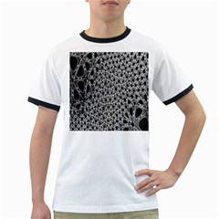 X Ray Rendering Hinges Structure Kinematics Circle Star Black Grey Ringer T Shirts