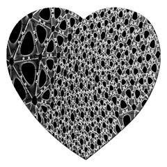 X Ray Rendering Hinges Structure Kinematics Circle Star Black Grey Jigsaw Puzzle (heart)