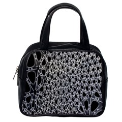 X Ray Rendering Hinges Structure Kinematics Circle Star Black Grey Classic Handbags (one Side)