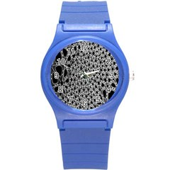 X Ray Rendering Hinges Structure Kinematics Circle Star Black Grey Round Plastic Sport Watch (s)
