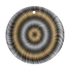 Prismatic Waves Gold Silver Ornament (round)