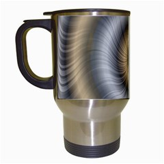 Prismatic Waves Gold Silver Travel Mugs (white)