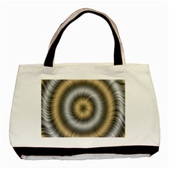 Prismatic Waves Gold Silver Basic Tote Bag