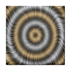 Prismatic Waves Gold Silver Face Towel