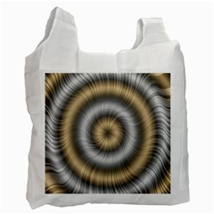 Prismatic Waves Gold Silver Recycle Bag (two Side)