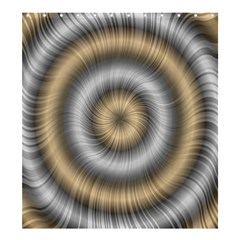 Prismatic Waves Gold Silver Shower Curtain 66  X 72  (large)