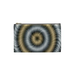 Prismatic Waves Gold Silver Cosmetic Bag (small)