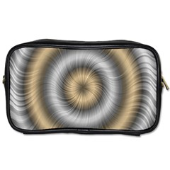 Prismatic Waves Gold Silver Toiletries Bags