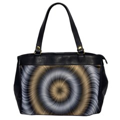 Prismatic Waves Gold Silver Office Handbags